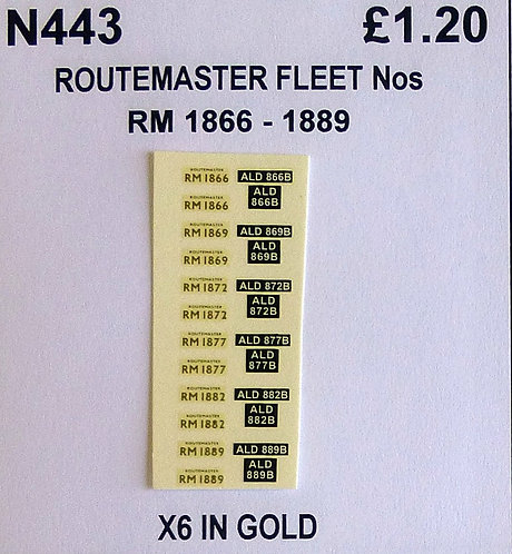 Gold RM 1866, 1869, 1872, 1877, 1882, 1889