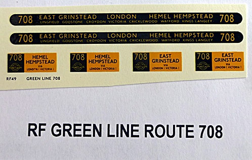 Green Line RF Route 708 (1950's)