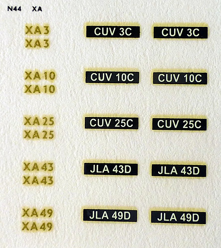 Gold XA3, XA10, XA25, XA43, XA49