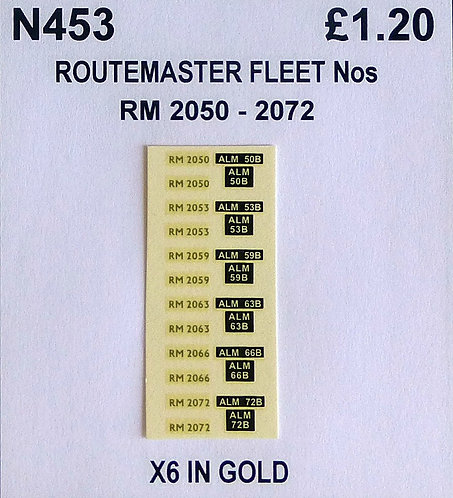 Gold RM 2050, 2053, 2059, 2063, 2066, 2072