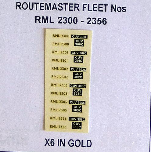Gold RML 2300, 2301, 2302, 2303, 2305, 2356
