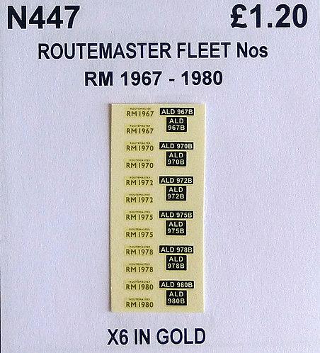Gold RM 1967, 1970, 1972, 1975, 1978, 1980