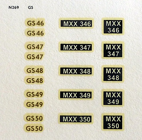 Gold GS46, GS47, GS48, GS49, GS50