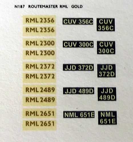 Gold RML2356, RML2300, RML2372, RML2489, RML2651