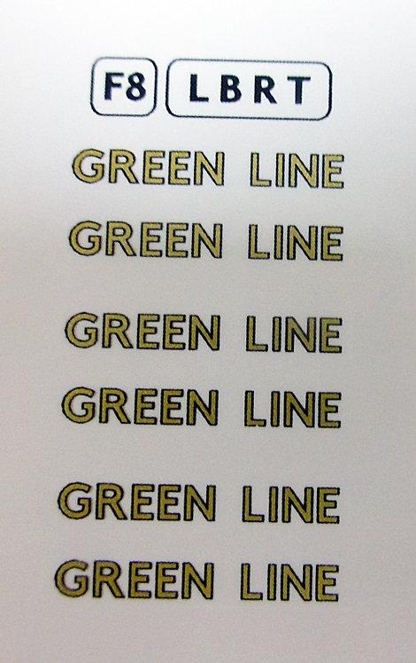 Fleet Names  Green Line Block