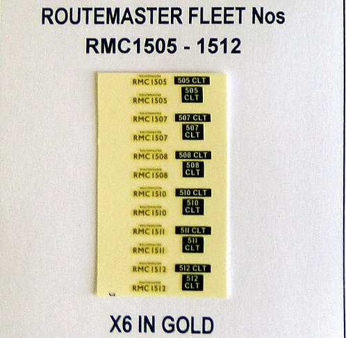 Gold RMC 1505, 1507, 1508, 1510, 1511, 1512