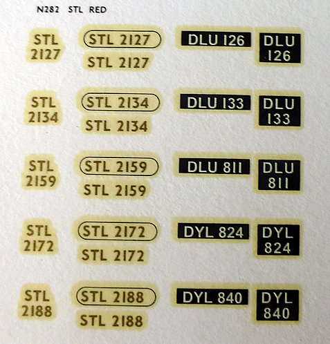 Gold STL2127, STL2134, STL2159, STL2172, STL2188