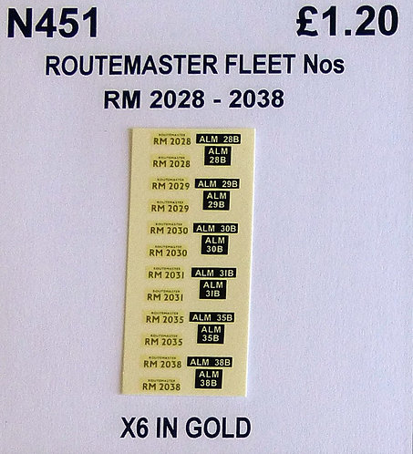 Gold RM 2028, 2029, 2030, 2031, 2035, 2038