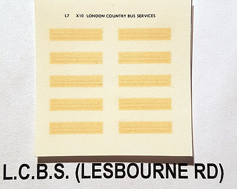 Legal Lettering  LCBS