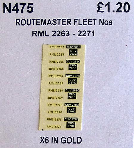 Gold RML 2263, 2266, 2267, 2269, 2270, 2271