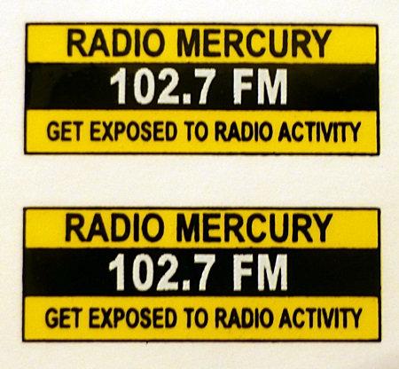 RADIO MERCURY REAR ADVERTS