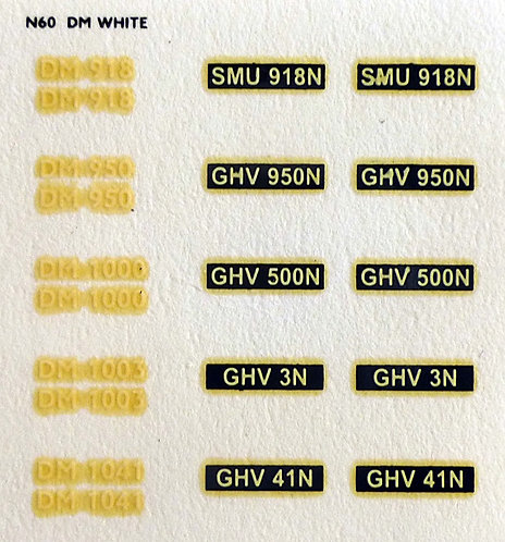 White DM918, DM950, DM1000, DM1003, DM1041