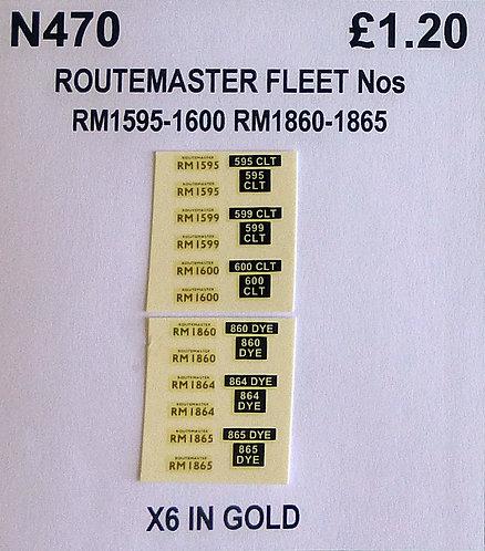 Gold RM 1595, 1599, 1600, 1860, 1864, 1865