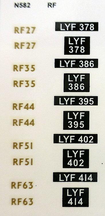 RF FLEET Nos