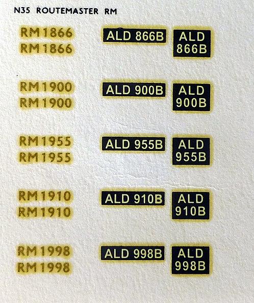 Gold RM1866, RM1900, RM1955, RM1910, RM1998