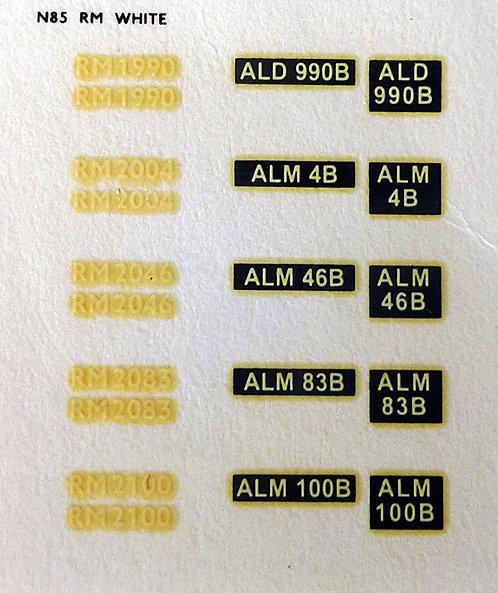 White RM1990, RM2004, RM2046, RM2083, RM2100