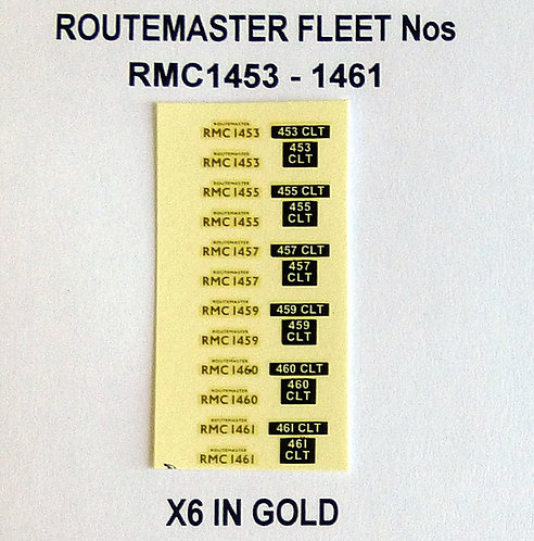 Gold RMC 1453, 1455, 1457, 1459, 1460, 1461