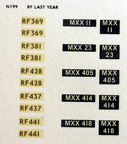 Gold RF369, RF381, RF428, RF437, RF441