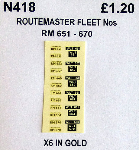 Gold RM 651, 652, 660, 661, 664, 670
