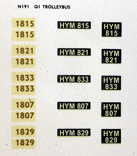 Gold Trolleybus 1807, 1815, 1821, 1833, 1829
