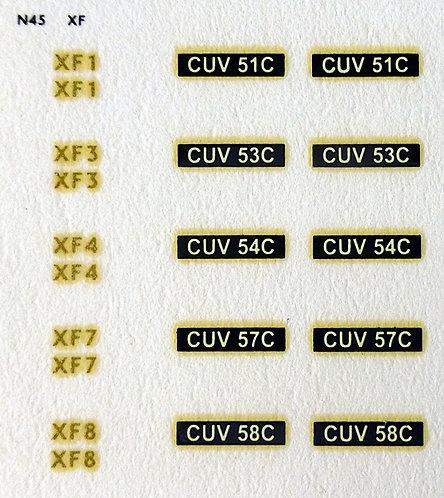 Gold XF1, XF3, XF4, XF7, XF8