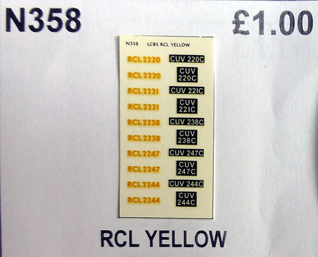 Yellow RCL2220, RCL2221, RCL2238, RCL2244, RCL2247