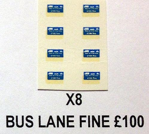 Misc:  Fine £100