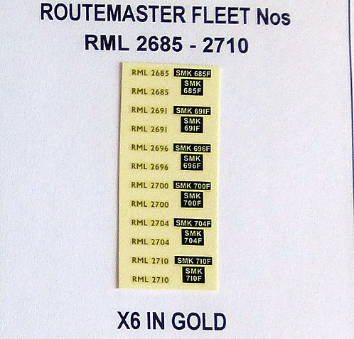 Gold RML 2685, 2691, 2696, 2700, 2704, 2710