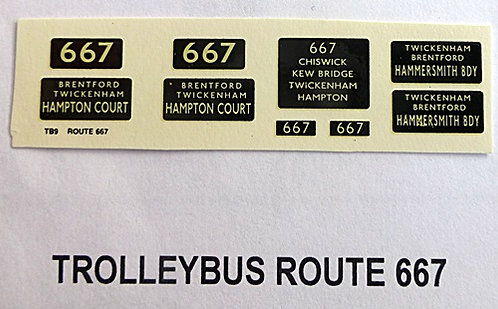 Trolleybus Blinds Route 667