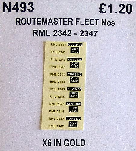 Gold RML 2342, 2343, 2344, 2345, 2346, 2347