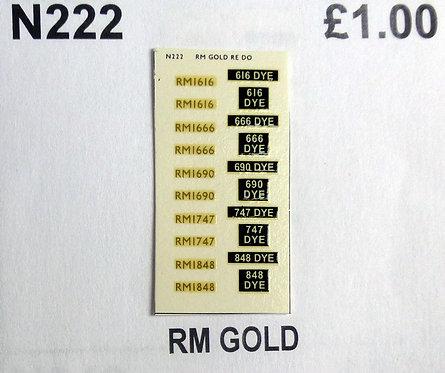 Gold RM1616, RM1666, RM1690, RM1747, RM1848