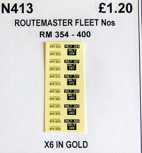 Gold RM 354, 367, 372, 385, 393, 400