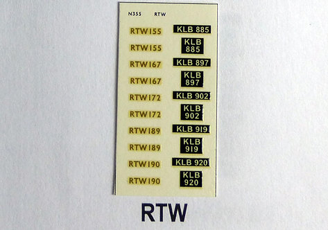 Gold RTW155, RTW167, RTW172, RTW189, RTW190