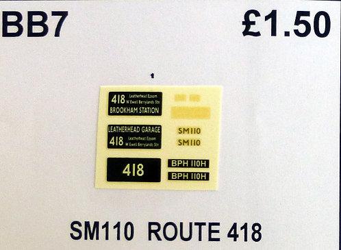 SM / SMS Route 418 (SM110)
