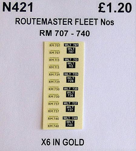 Gold RM 707, 713, 729, 730, 737, 740