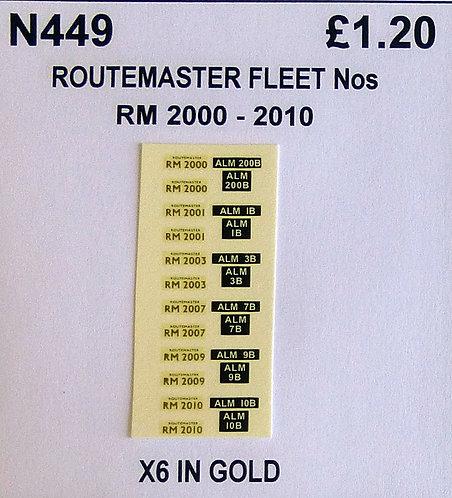 Gold RM 2000, 2001, 2003, 2007, 2009, 2010