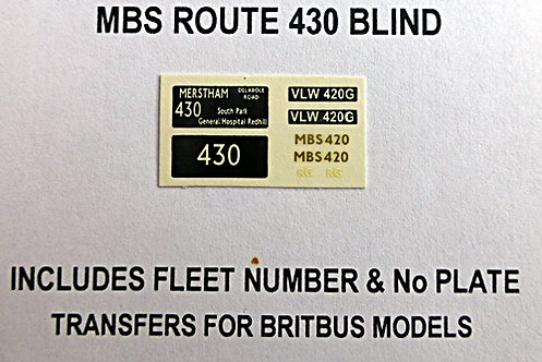 MBS Route 430 (MBS420)