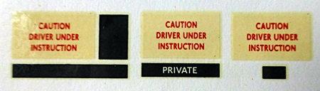 RT L.C.B.S.  Driver Training Blinds