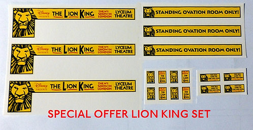 LION KING ADVERT SET