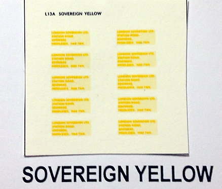 Legal Lettering  Sovereign Yellow