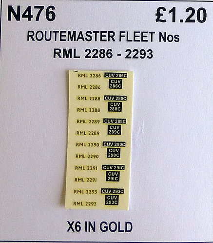 Gold RML 2286, 2288, 2289, 2290, 2291, 2293