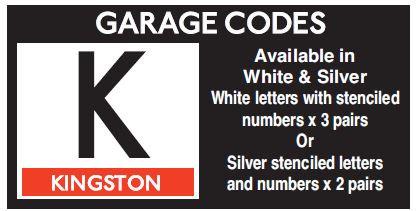 K In Sliver Or White