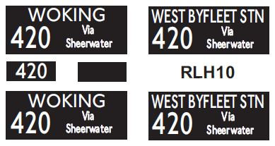 NEW RLH Blinds Route 420