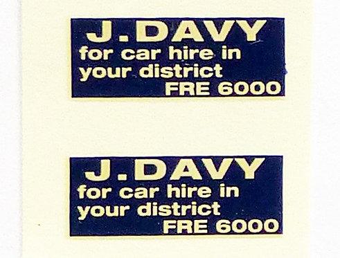 J Davey Car Hire