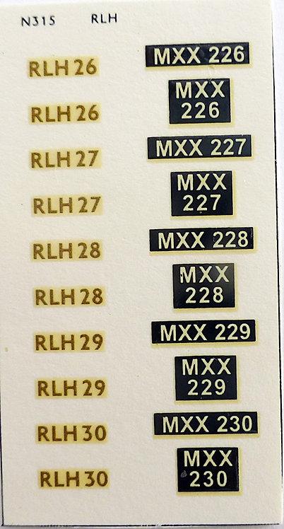 Gold RLH26, RLH27, RLH28, RLH29, RLH30