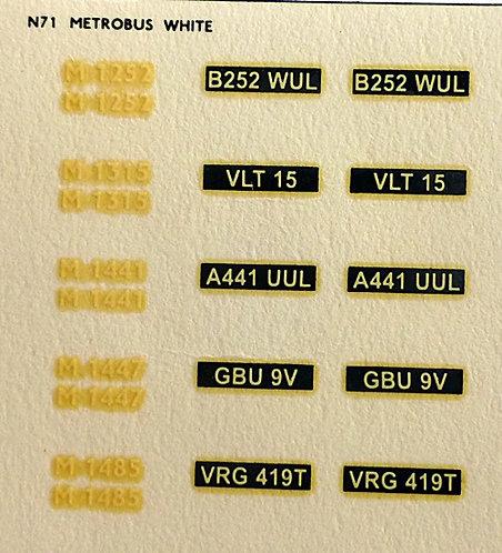 White M1252, M1315, M1441, M1447, M1485