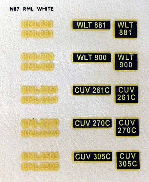 White RML881, RML900, RML2261, RML2270, RML2305