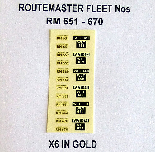 Gold RM 651, 652, 660, 661, 664, 670