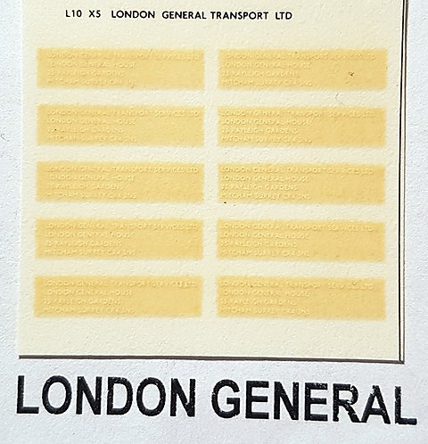 Legal Lettering  London General
