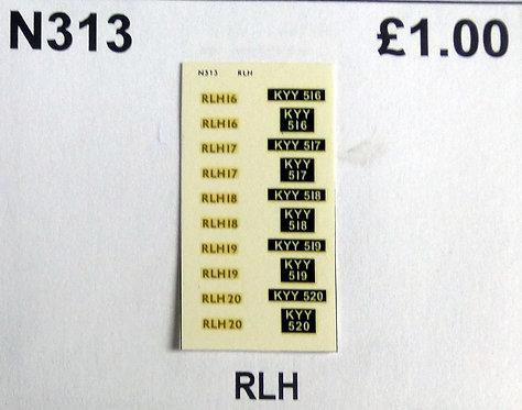 Gold RLH16, RLH17, RLH18, RLH19, RLH20